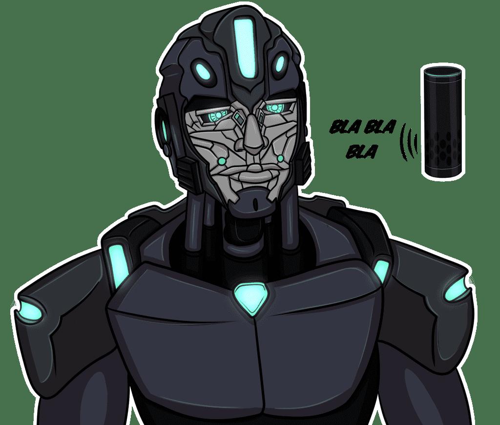robot-interacts-withamazon-alex-echo-speaker